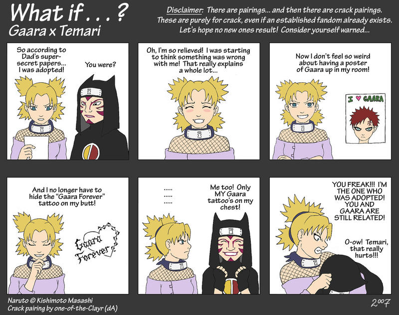 What If - Gaara x Temari by *one-of-the-Clayr on deviantART