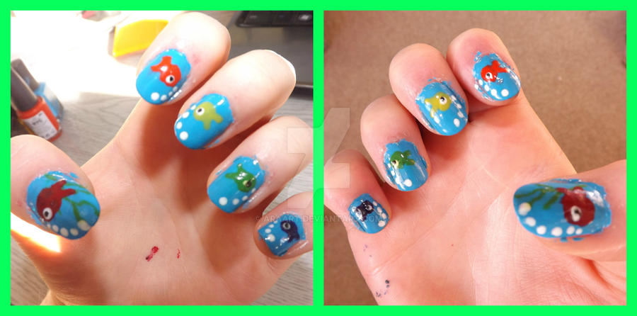 fish nails by ARAart