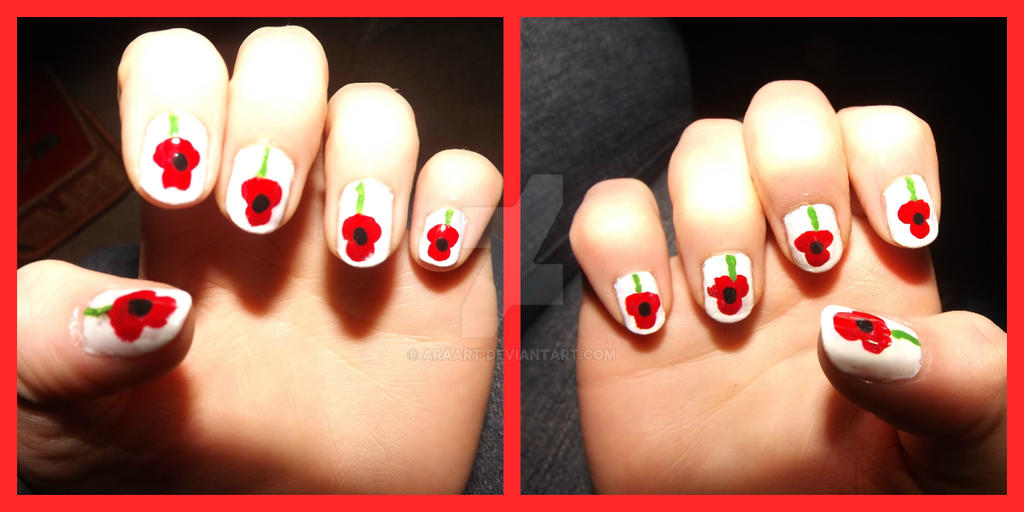 Poppy Nails For Remembrance Sunday By Araart On Deviantart