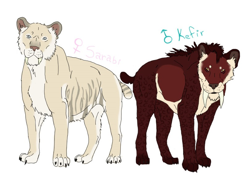 BREEDABLE SMILODONS - Crossing species [OPEN] by ForeignFrontierRanch