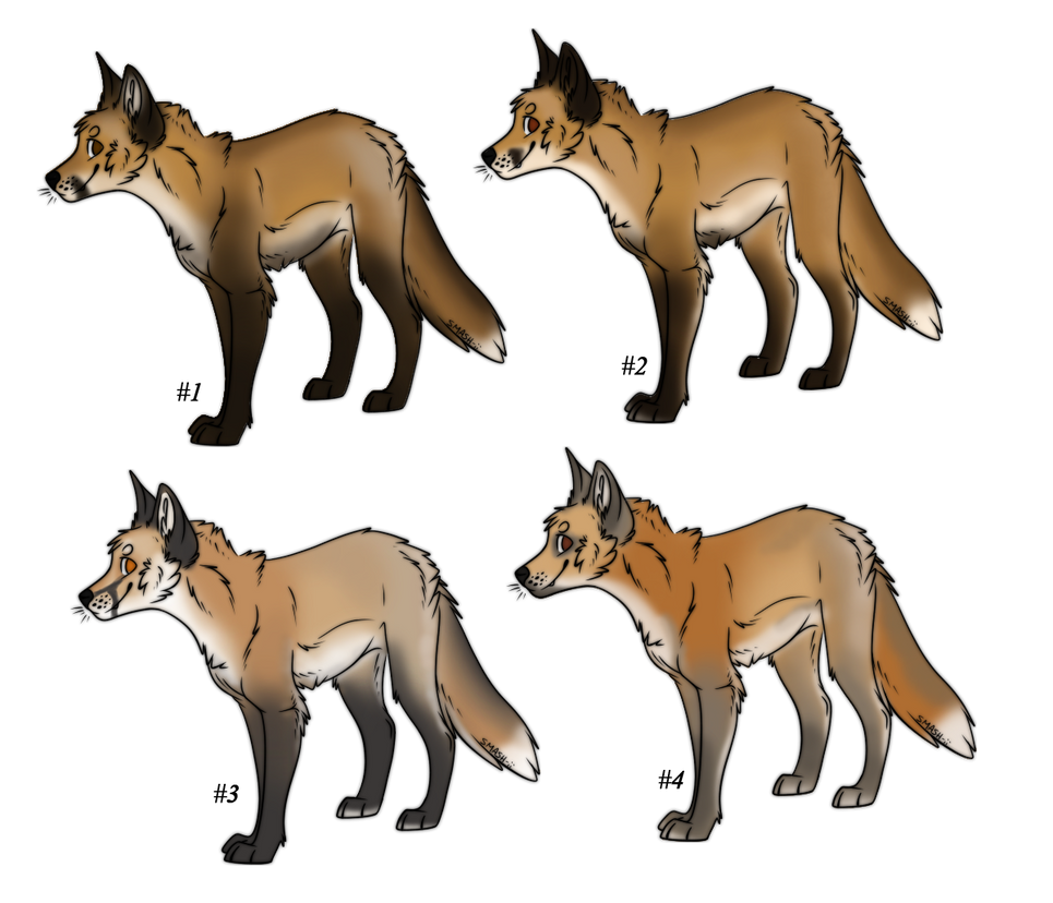 Natural fox Adoptables [OPEN] by ForeignFrontierRanch
