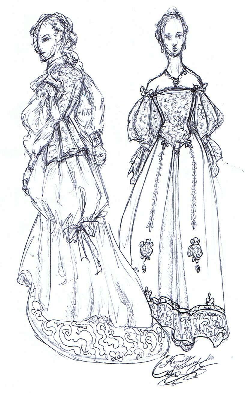 Costume design for 'Mon Ami' by Kvdoglover
