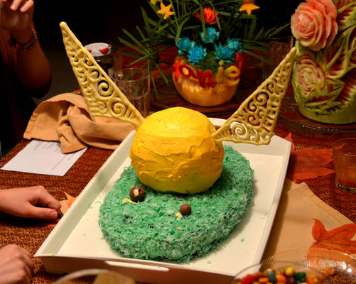 Golden Snitch Cake