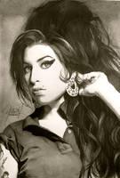 Amy Winehouse Portrait by ParaguayDraw