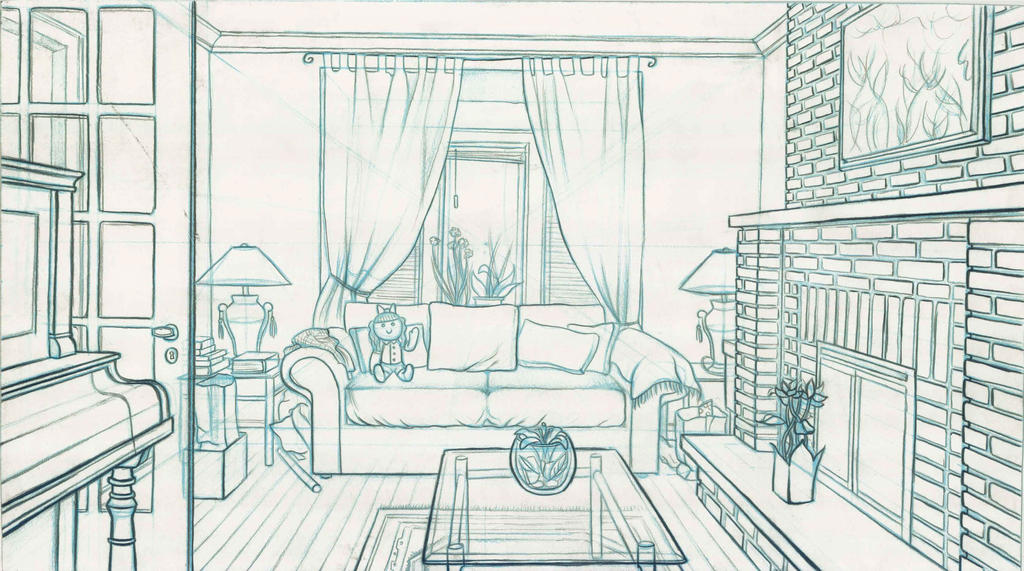 Room line drawing 1 by paraguaydraw on deviantart for Drawing room design pictures