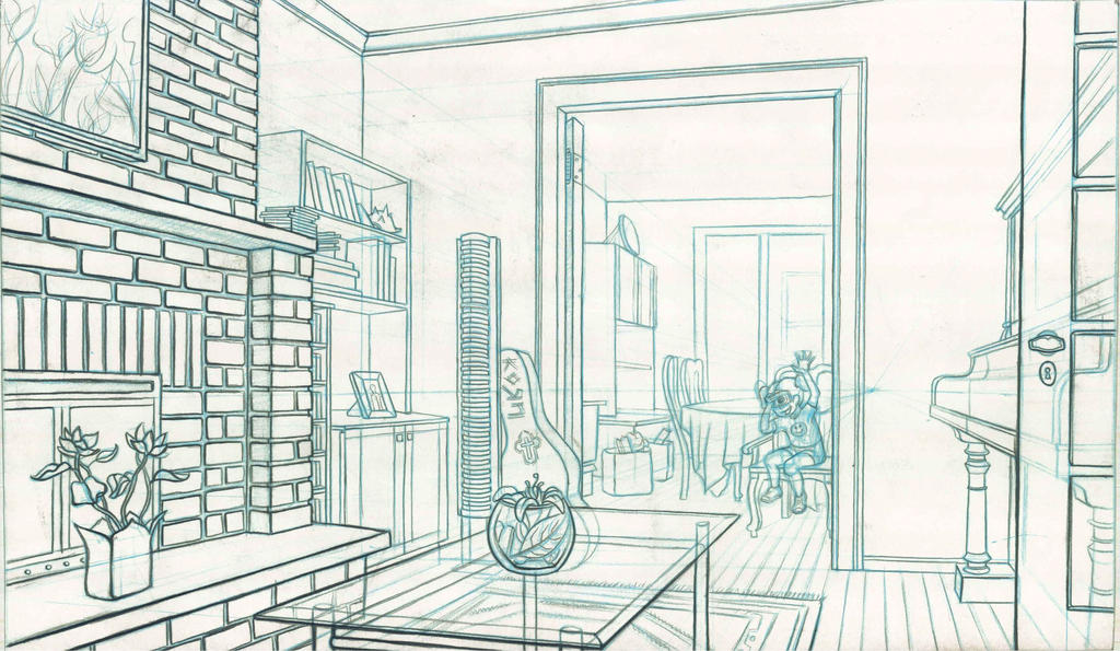 Room line drawing 2 by paraguaydraw on deviantart for Apartment design dwg