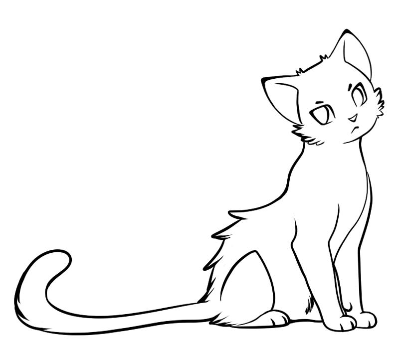 Line Drawing Of Cat : Free cat lineart by ziboe on deviantart