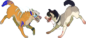 Shikoba and Raven pixels by Insol