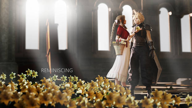 Cloud and Aerith in the church