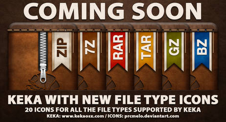 Keka - New supported file type icons