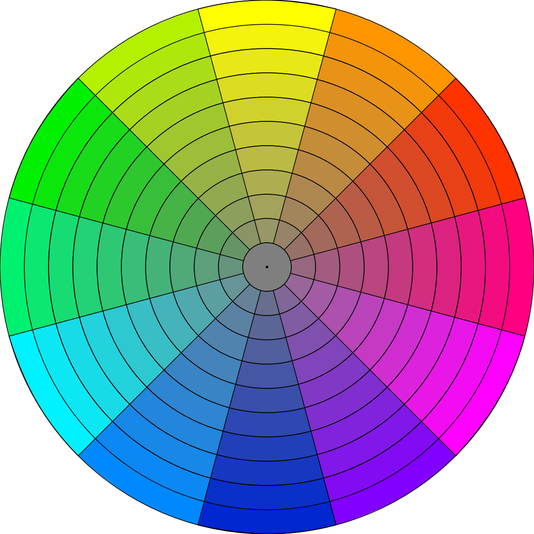Chroma Wheel For Gamut Mapping By Fengl0ng On Deviantart