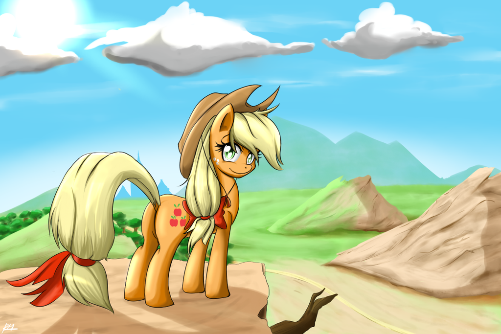 Even more Applejack by Reikomuffin