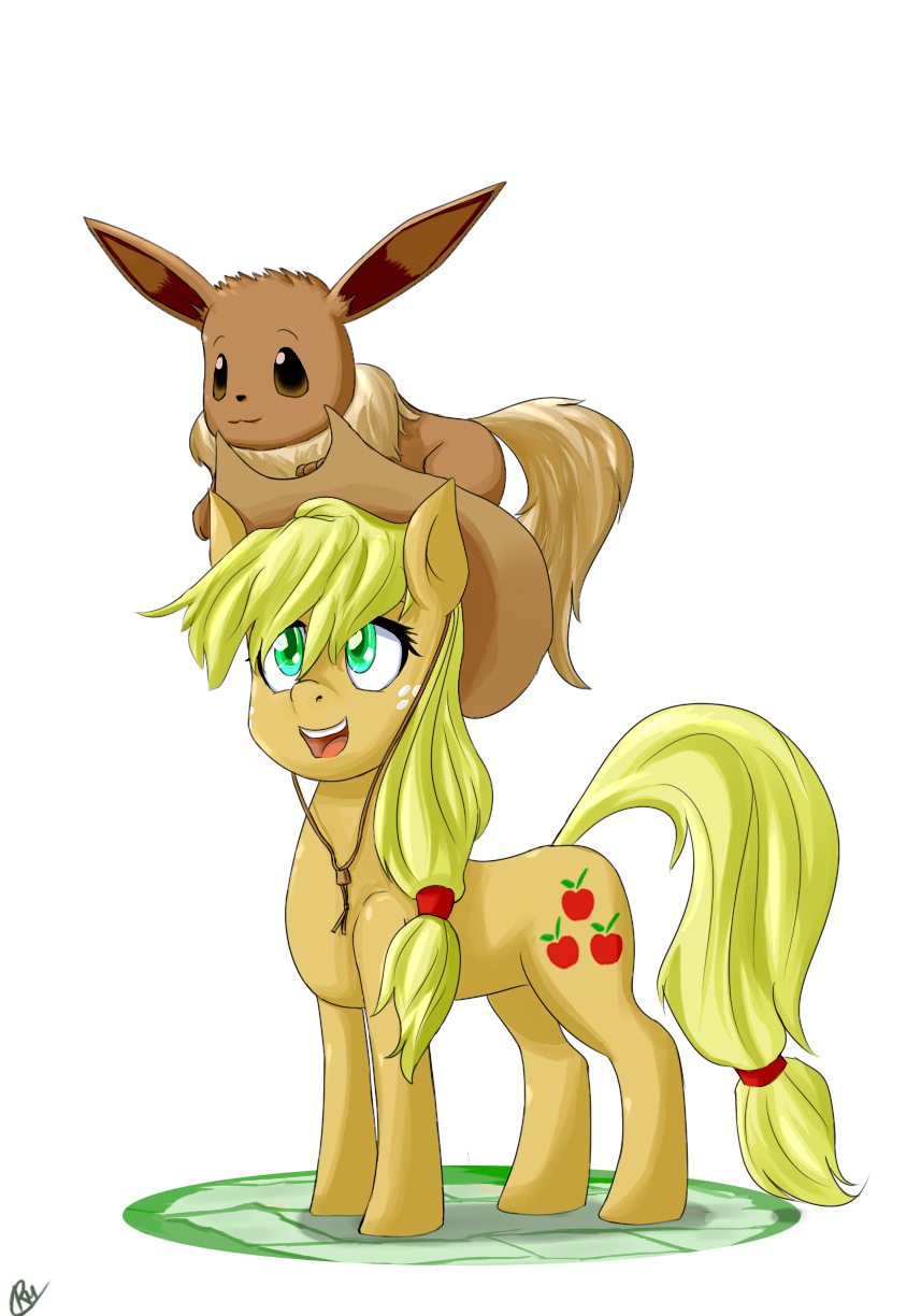 Jackie and Eevee by Reikomuffin