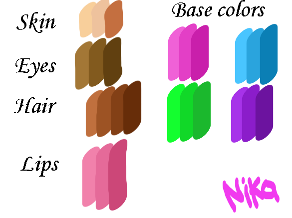 Nika's color code by werunchick