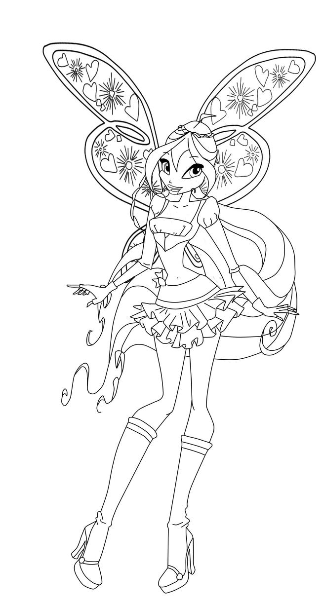 Bloom by werunchick on deviantart for Winx club bloom coloring pages