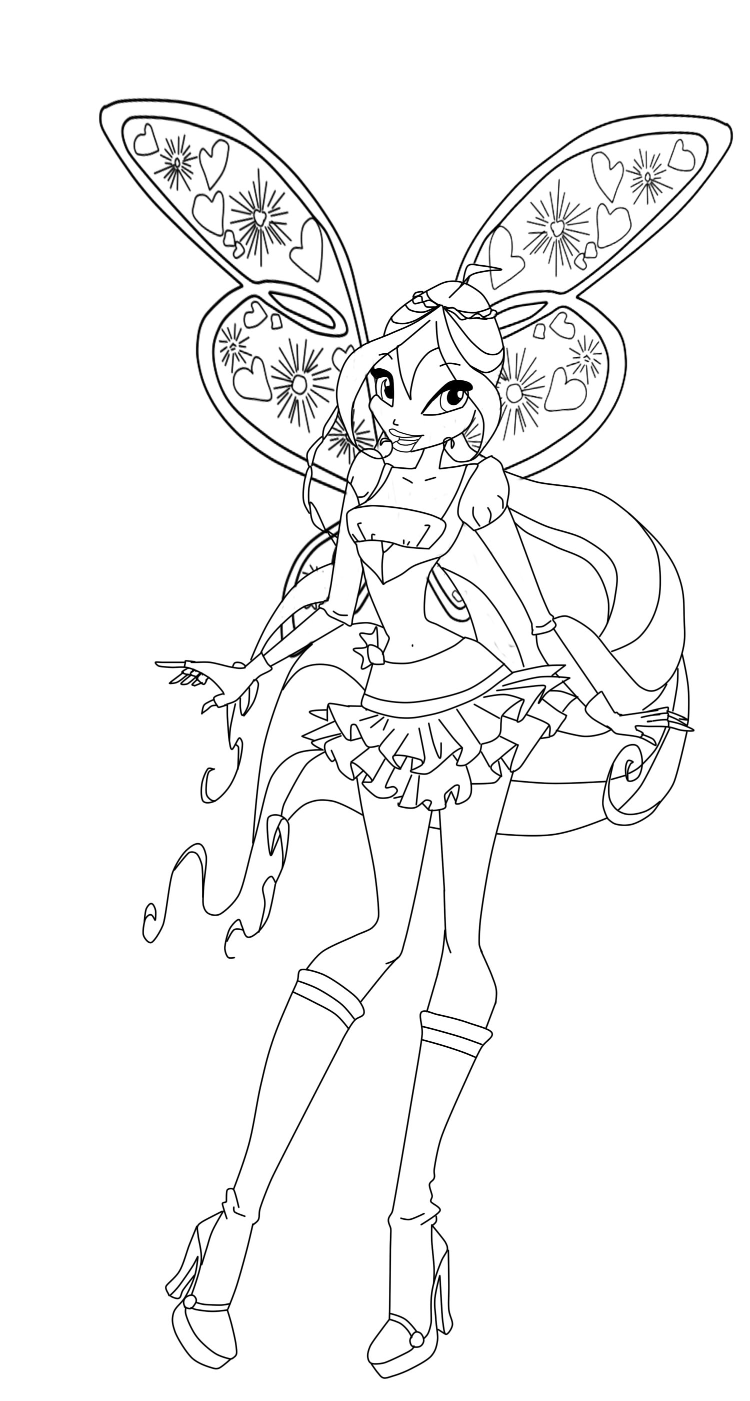 Bloom by werunchick on deviantart for Bloom winx coloring pages