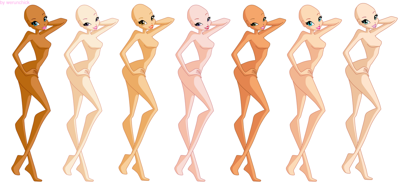 Winx bases by werunchick