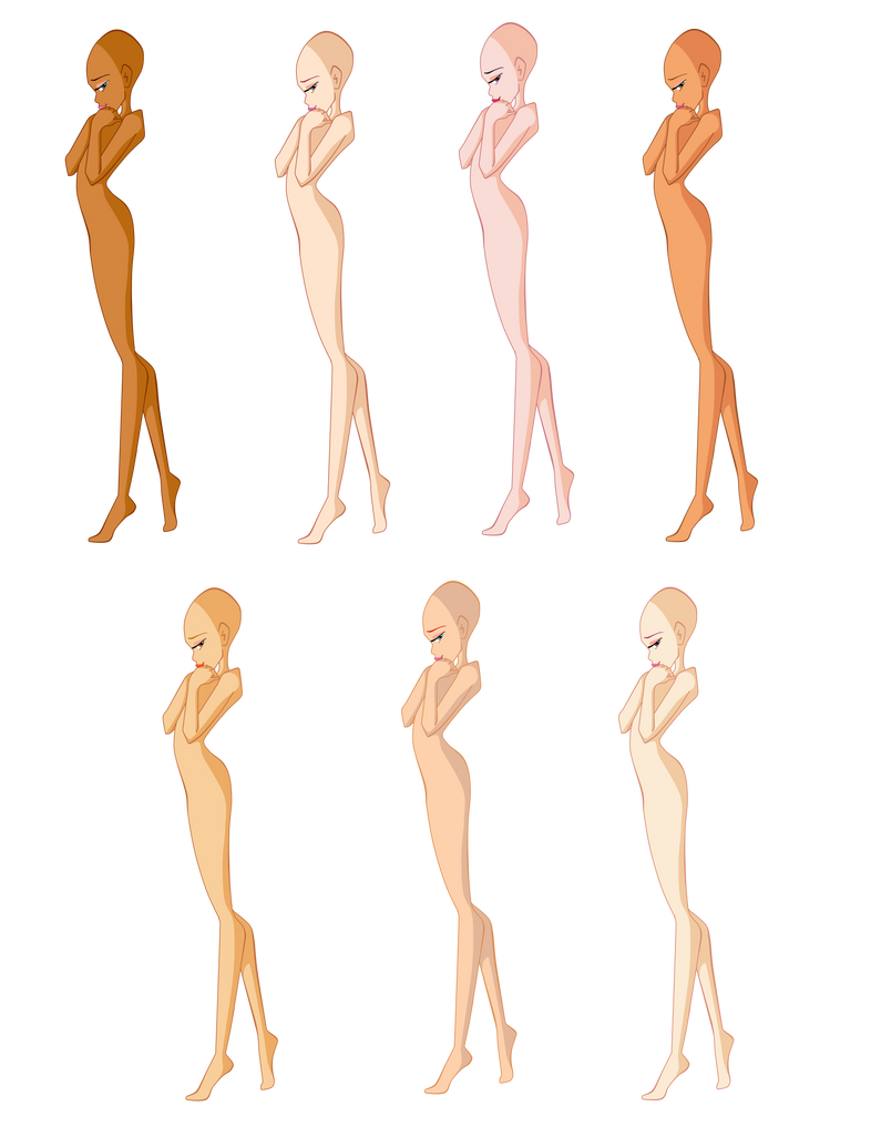 Winx girl bases by werunchick