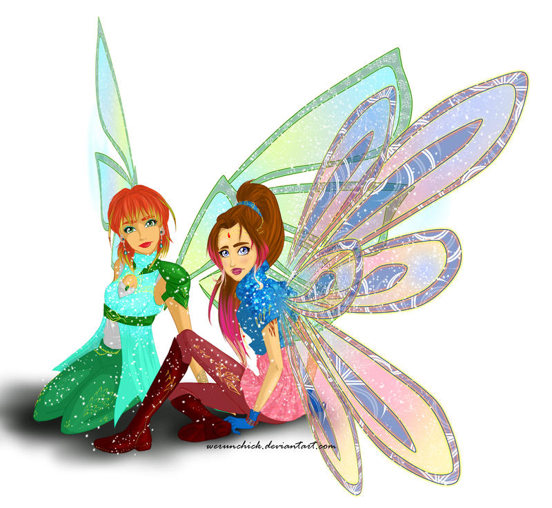 Catherina and Zoe Dimentionix by werunchick