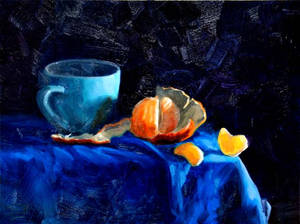 Tangerine and Cup