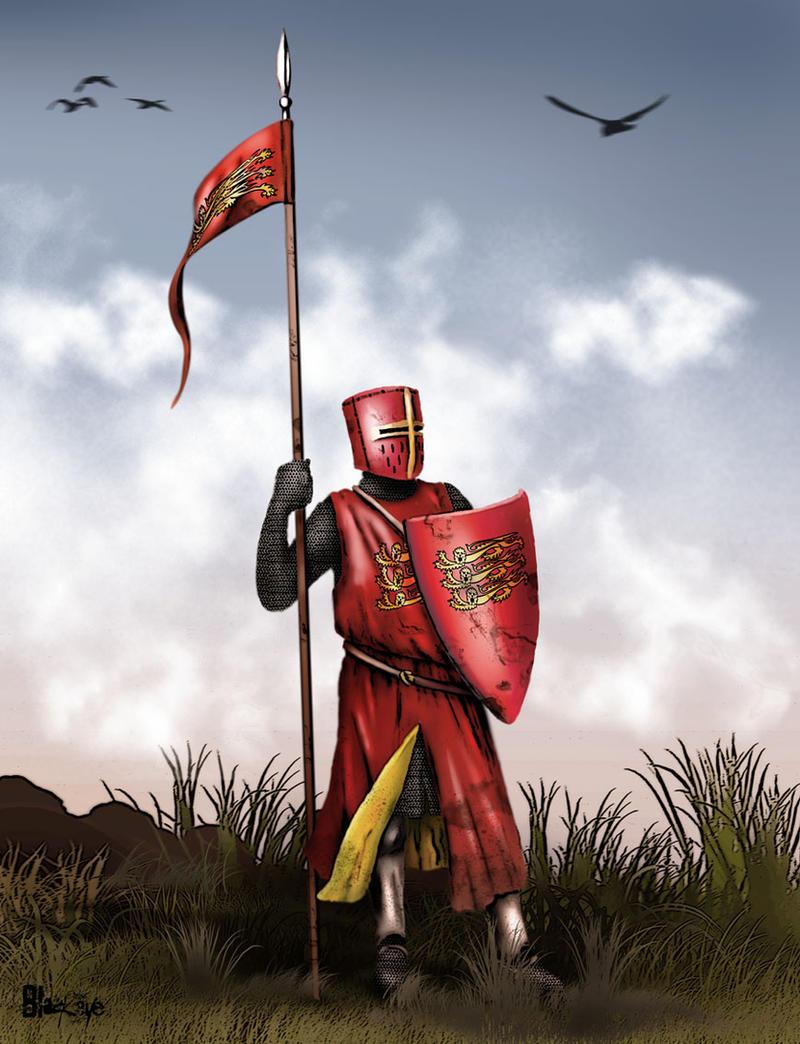 Dismounted English knight