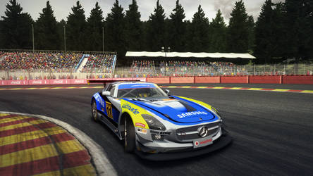 Vodafone Team Livery for Mercedes Benz SLS AMG GT3 by NG-yopyop