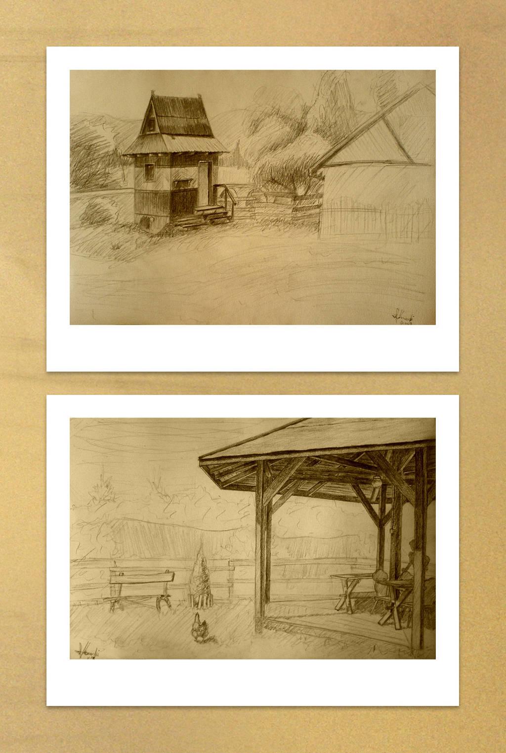 Wood buildings by KonaRos