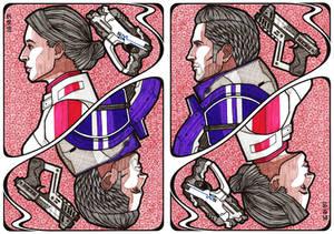 Mass Effect Cards: Ashley Williams - Kaidan Alenko