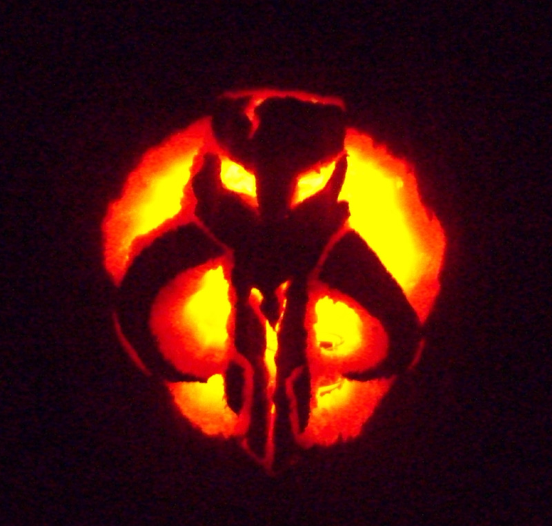 Bounty Hunter Pumpkin by TKVonMerrik