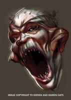 Orc head by kieranoats