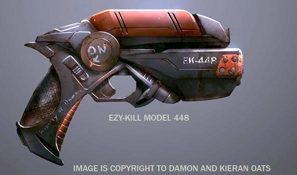 Sci-fi pistol design by kieranoats