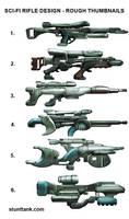 Sci-fi Rifle Thumbnails