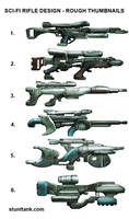 Sci-fi Rifle Thumbnails by kieranoats