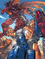 Optimus Prime vs. Megatron 2 by kieranoats