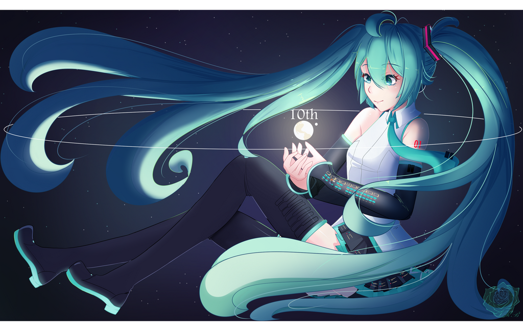 Miku Hatsune 10th by Rouss-Black