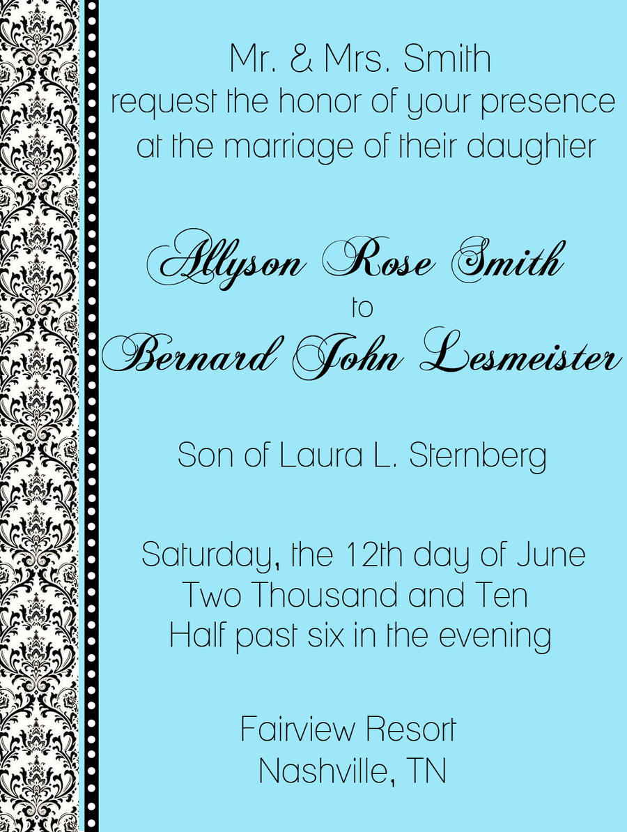 Wedding Cards Format Reference For Wedding Decoration