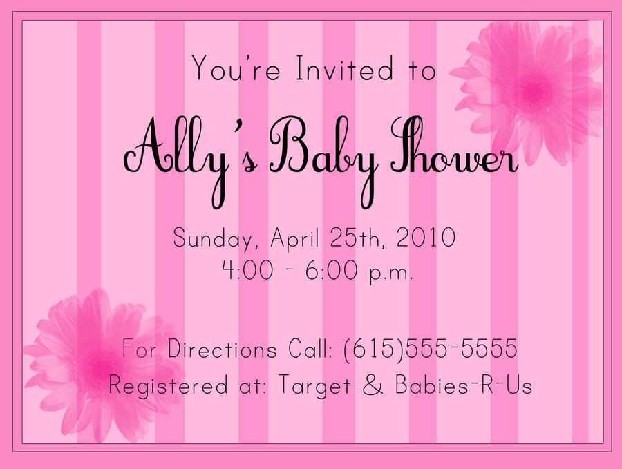 Baby shower invitation sample idealstalist baby shower invitation sample stopboris Image collections