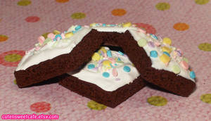Vanilla Confetti Brownies