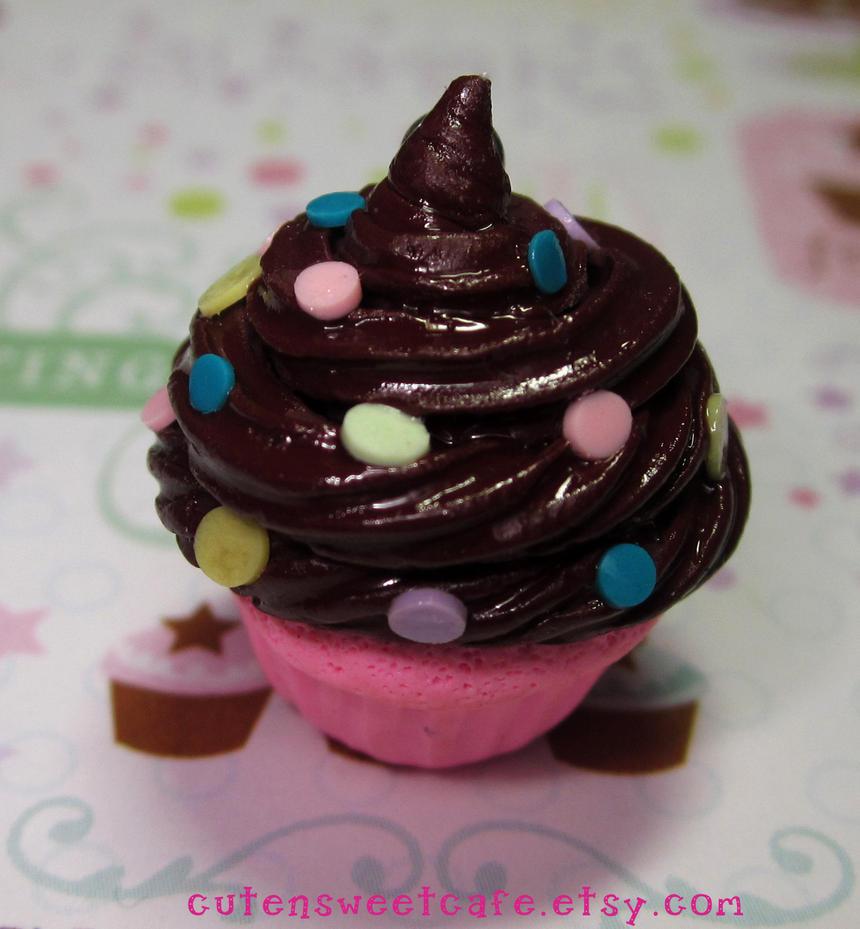 Confetti Choc N Pink Cupcake by pinknikki