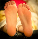 Her soft soles relaxing