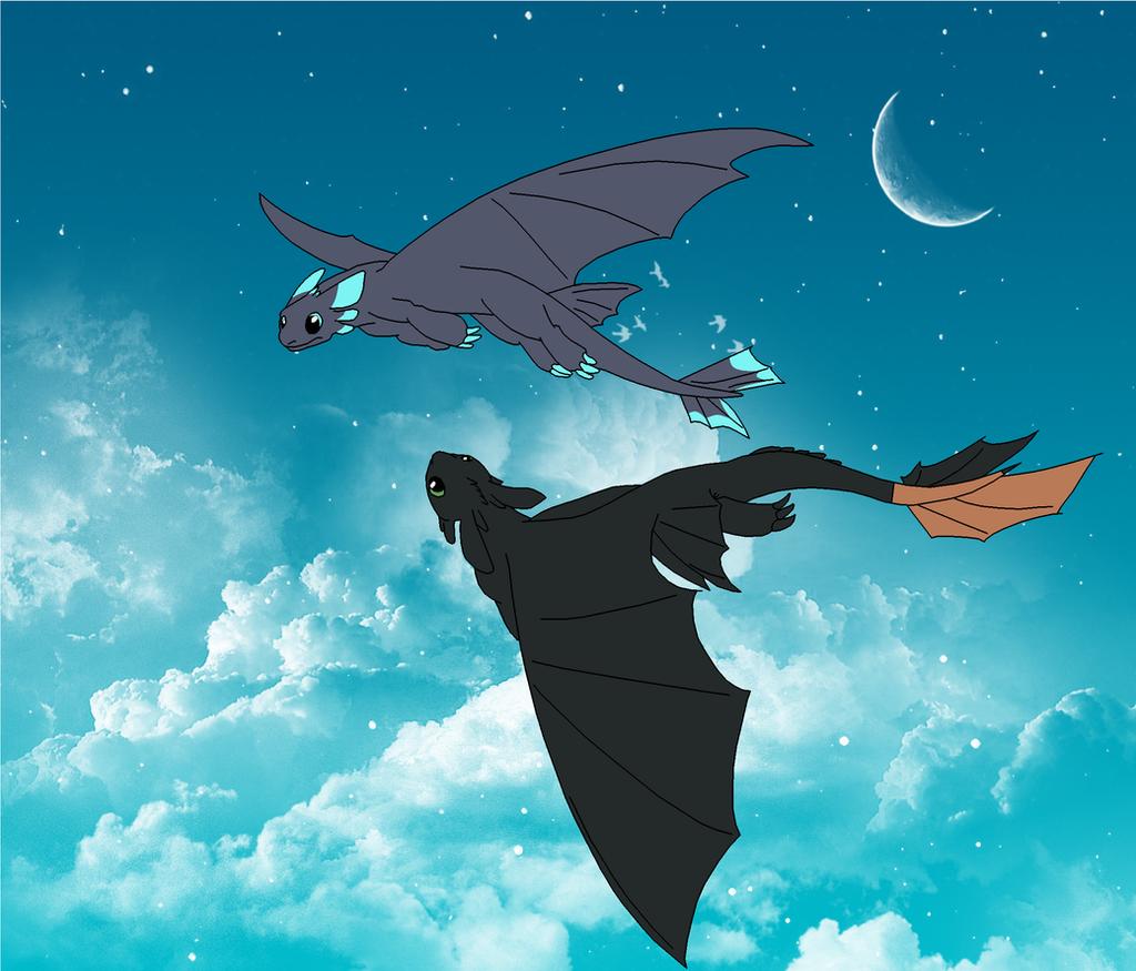 Nightfury Flight by AprilTheFawn on DeviantArt