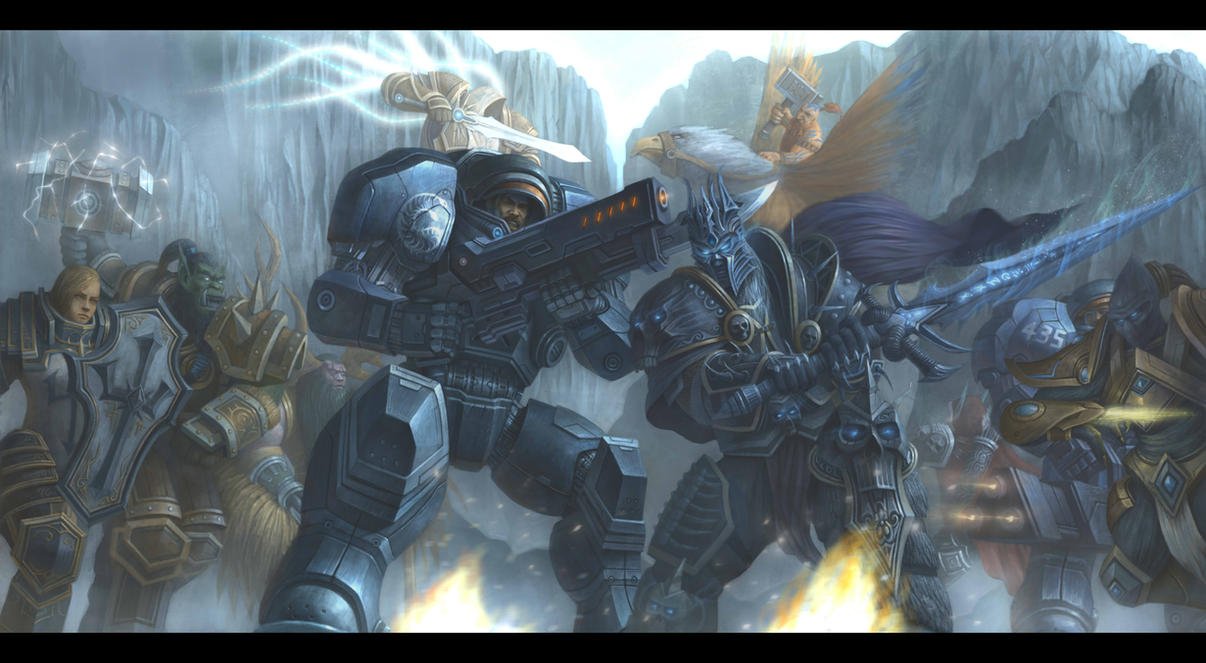Heroes Of The Storm Raynor Vs Arthas By Concubot