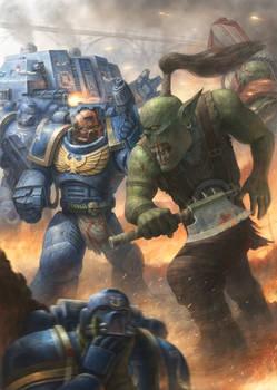 Ultramarine vs Ork