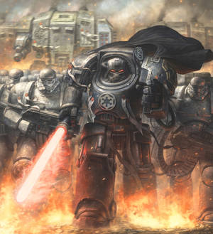 Darth Vader in the universe of Warhammer 40000