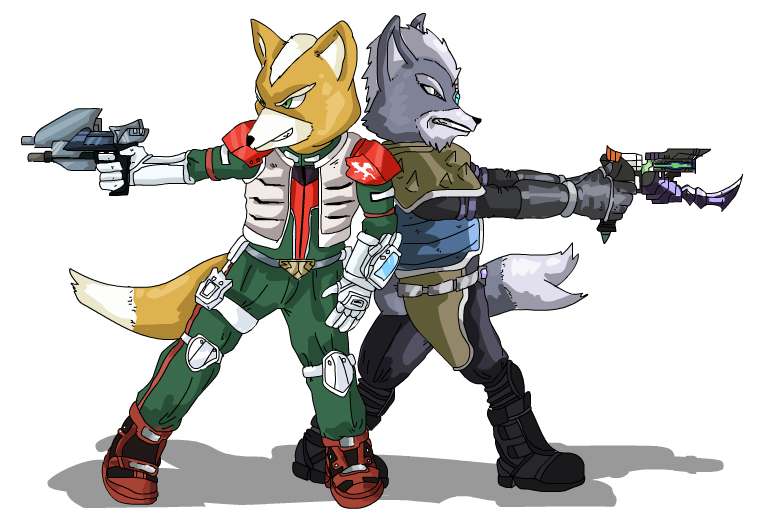 The Fox and The Wolf -STARFOX- by PharoahArch