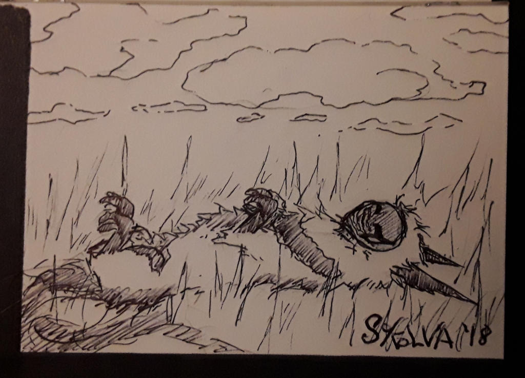INKTOBER Day 28: Watching the Clouds by Sokolva