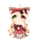 [ArtTrade] candydips - Evelyn by mareu-senpai