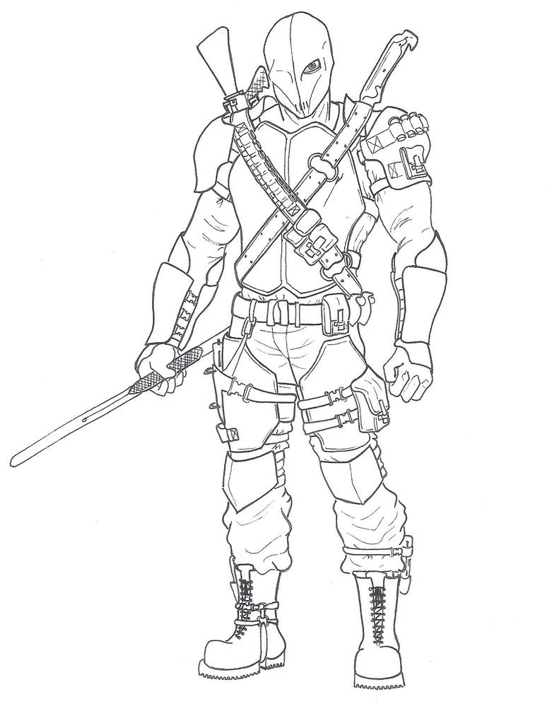 coloring pages of deathstroke costume - photo#20