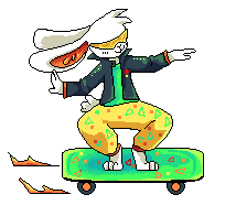 rabbit on a skateboard because i can