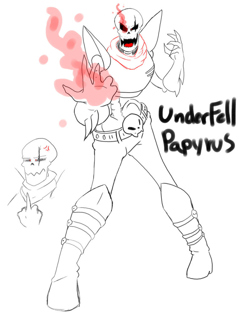Underfell Papyrus by Ichi-CooCoo